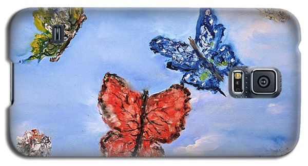 Galaxy S5 Case featuring the painting Flying by Evelina Popilian
