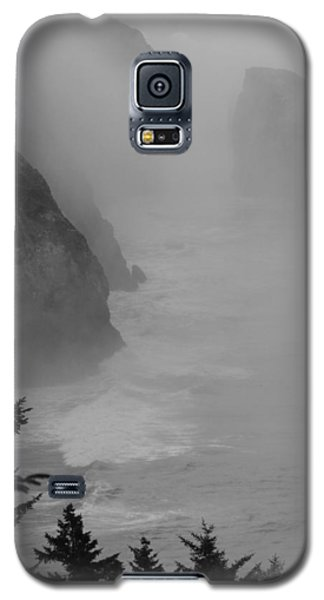 Galaxy S5 Case featuring the photograph Fog And Cliffs Of The Oregon Coast by Mick Anderson