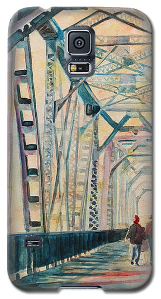 Foggy Morning On The Railway Bridge IIi Galaxy S5 Case