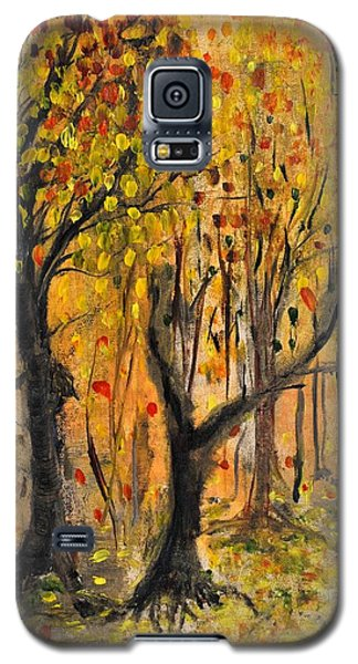 Galaxy S5 Case featuring the painting Foliage by Evelina Popilian