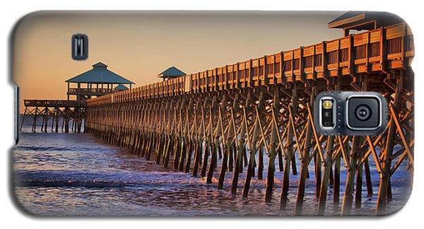 Folly Beach Pier Galaxy S5 Case by Lynne Jenkins