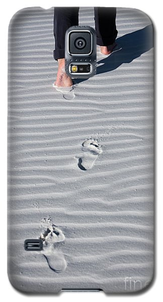 Footprint On White Sand Galaxy S5 Case