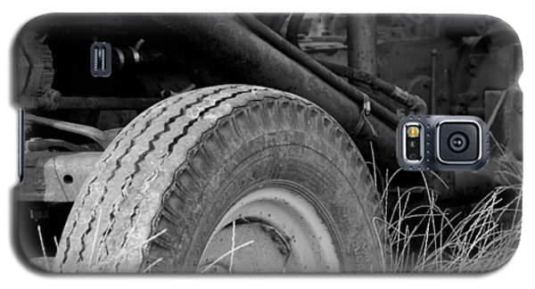 Galaxy S5 Case featuring the photograph Ford Tractor Details In Black And White by Jennifer Ancker