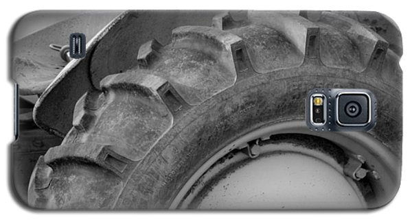 Galaxy S5 Case featuring the photograph Ford Tractor In Black And White by Jennifer Ancker