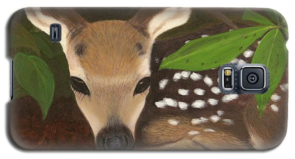 Galaxy S5 Case featuring the painting Found A Fawn by Janet Greer Sammons