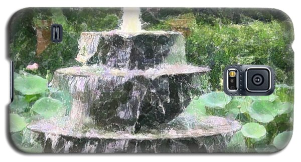 Galaxy S5 Case featuring the photograph Fountain by Donna  Smith