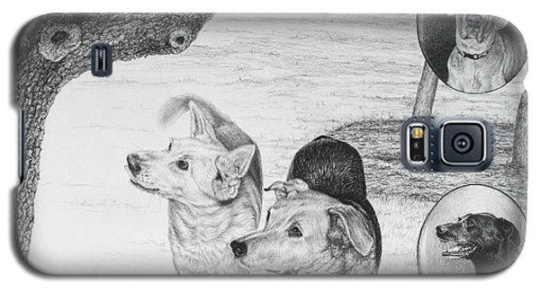 Four Dogs And A Squirrel Galaxy S5 Case by Mike Ivey