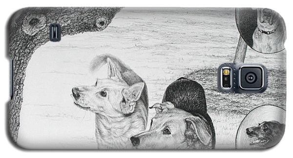 Four Dogs And A Squirrel Galaxy S5 Case