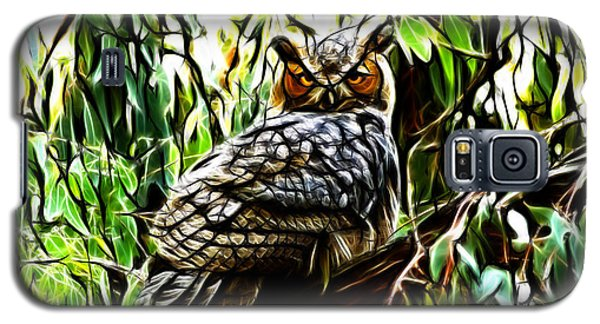 Fractal-s -great Horned Owl - 4336 Galaxy S5 Case