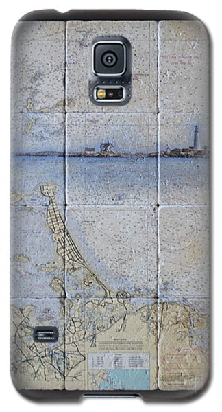 Framed Nautical Chart Of Hingham And Hull With Boston Light  Galaxy S5 Case