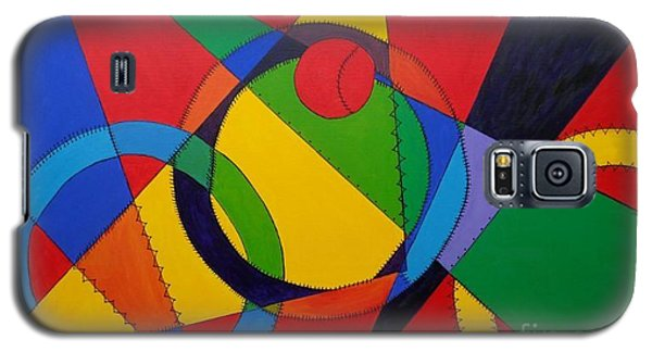 Galaxy S5 Case featuring the painting Frankenball by Julie Brugh Riffey