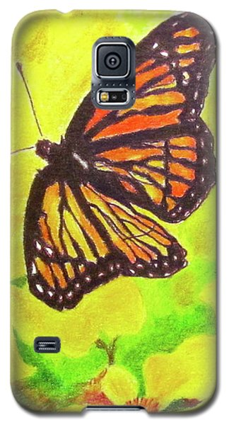 Galaxy S5 Case featuring the drawing Free To Fly by Beth Saffer