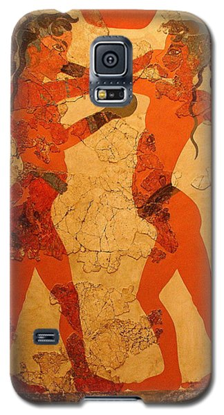 Fresco Of Boxing Children Galaxy S5 Case by Laurel Talabere