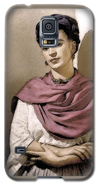 Galaxy S5 Case featuring the photograph Frida Interpreted 2 by Lenore Senior