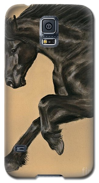 Galaxy S5 Case featuring the painting Friesian Portrait by Sheri Gordon