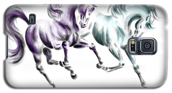 Frolicking - Wild Horses Print Color Tinted Galaxy S5 Case