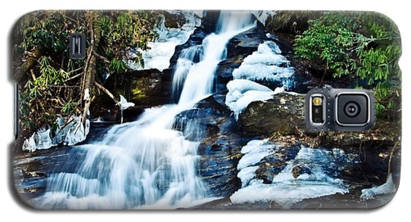 Galaxy S5 Case featuring the photograph Frozen Waterfall by Susan Leggett