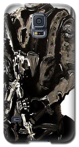 Full Length Figure Portrait Of Swat Team Leader Alpha Chicago Police In Full Uniform With War Gun Galaxy S5 Case