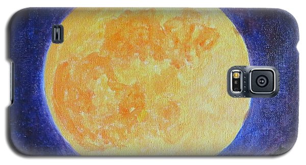 Galaxy S5 Case featuring the painting Full Moon by Sonali Gangane