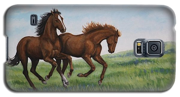 Galloping Horses Galaxy S5 Case by Penny Birch-Williams