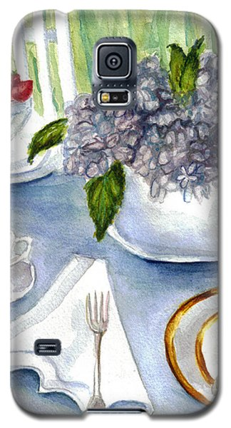 Galaxy S5 Case featuring the painting Garden Tea Party by Clara Sue Beym