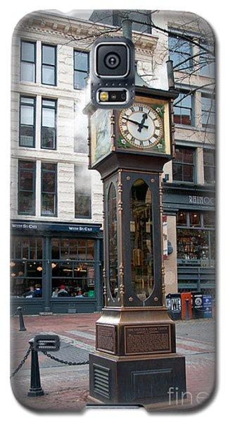 Galaxy S5 Case featuring the digital art Gastown Steam Clock by Carol Ailles