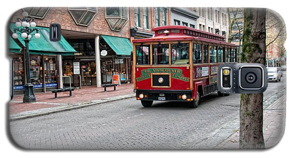 Galaxy S5 Case featuring the digital art Gastown Street Scene by Carol Ailles