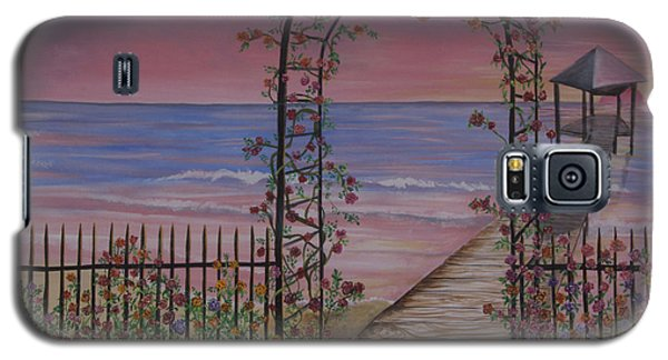Gentle Trellis Of Roses Galaxy S5 Case