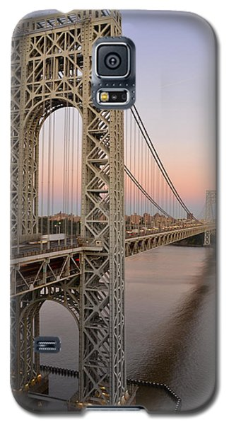 Galaxy S5 Case featuring the photograph George Washington Bridge At Sunset by Zawhaus Photography