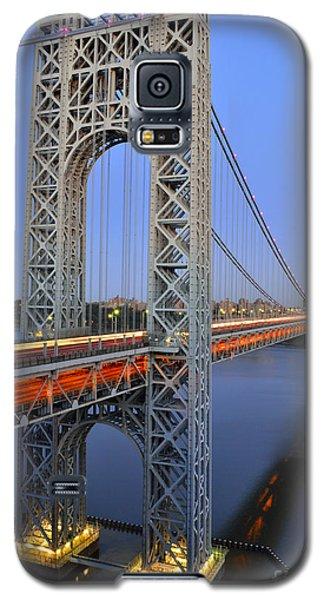 George Washington Bridge At Twilight Galaxy S5 Case by Zawhaus Photography