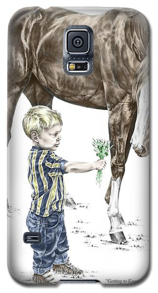 Getting To Know You - Boy And Horse Print Color Tinted Galaxy S5 Case