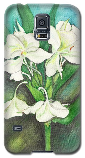 Galaxy S5 Case featuring the painting Ginger Lilies by Carla Parris