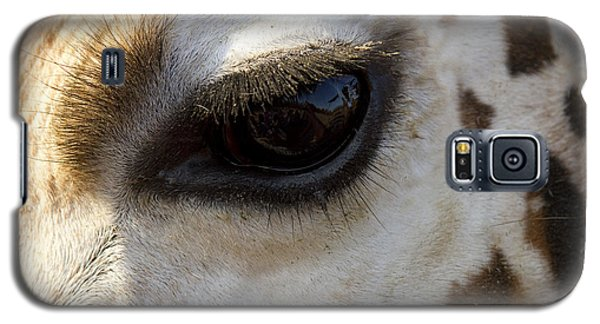 Galaxy S5 Case featuring the photograph Giraffe Eye by Carrie Cranwill