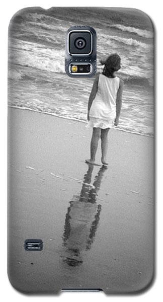 Galaxy S5 Case featuring the photograph Girl By Ocean by Kelly Hazel