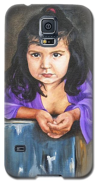 Galaxy S5 Case featuring the painting Girl From San Luis by Lori Brackett