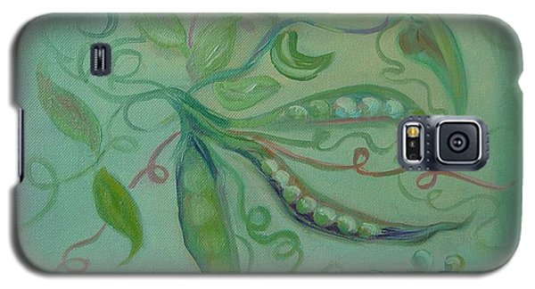 Galaxy S5 Case featuring the painting Give Peas A Chance by Carol Berning
