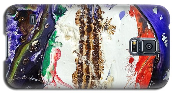 Galaxy S5 Case featuring the painting Glass Painting 24 Detail 4 by Patrick Morgan