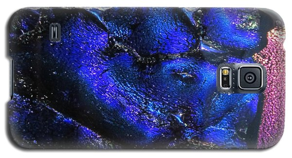 Galaxy S5 Case featuring the painting Glass River by Kathy Sheeran