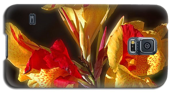 Galaxy S5 Case featuring the photograph Glowing Iris by DigiArt Diaries by Vicky B Fuller