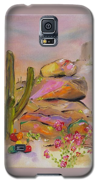 Gold-lined Rocks Galaxy S5 Case by Judith Rhue