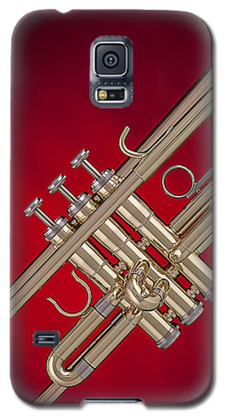 Gold Trumpet Isolated On Red Galaxy S5 Case
