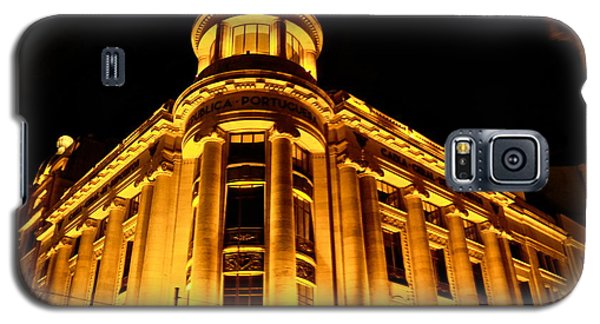 Galaxy S5 Case featuring the photograph Golden Building At Night by Kirsten Giving