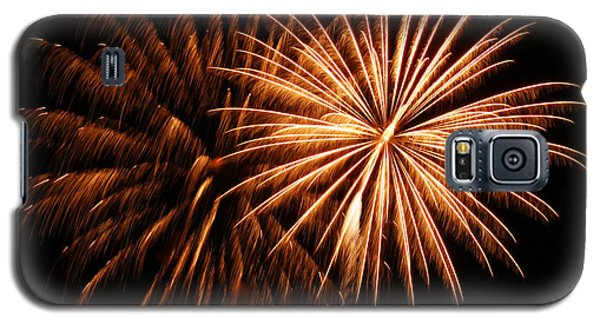 Galaxy S5 Case featuring the photograph Golden Firework by Tyra  OBryant