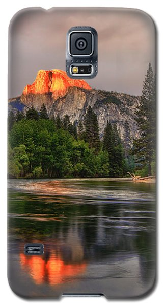Golden Light On Halfdome Galaxy S5 Case