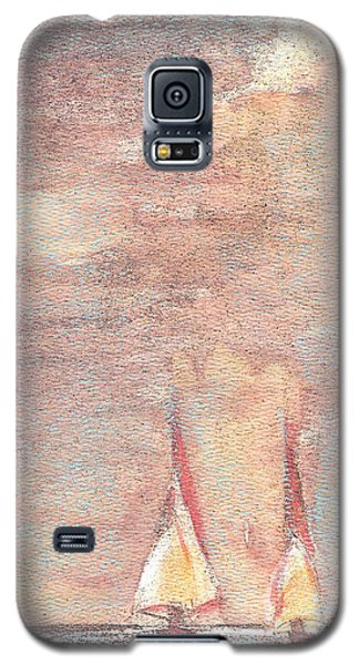 Galaxy S5 Case featuring the painting Golden Sails by Richard James Digance