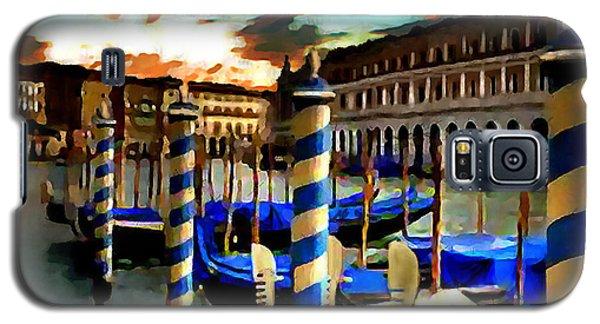 Gondolas Under A Summer Sunset Galaxy S5 Case