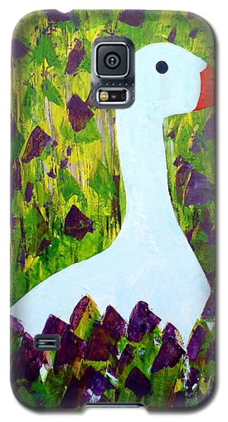 Galaxy S5 Case featuring the painting Goose by Barbara Moignard