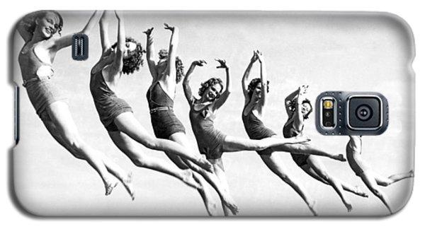 Graceful Line Of Beach Dancers Galaxy S5 Case