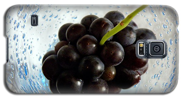 Galaxy S5 Case featuring the photograph Grape Cluster In Biot Glass by Lainie Wrightson