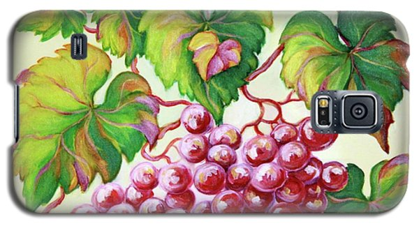 Galaxy S5 Case featuring the painting Grape Study 2 by Inese Poga
